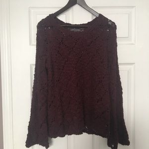 Kendall & Kylie burgundy sweater